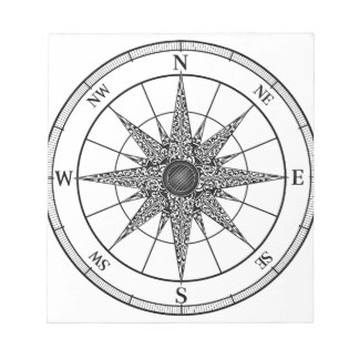 Compass Vintage Rose Notepad