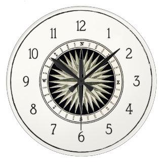Compass Wall Clock