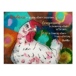 Compassion, Joy and Kindness Postcard