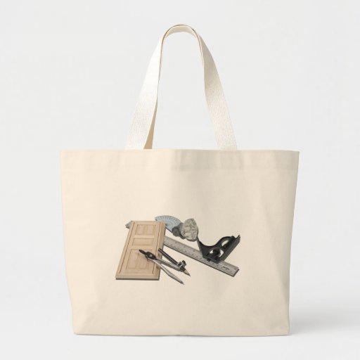 CompassRulerDoorKnobTools021411 Canvas Bags