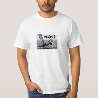Competition Sailing Catamaran Picture T-Shirt