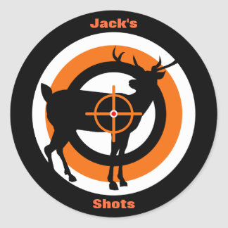 Competition Target Patches Classic Round Sticker