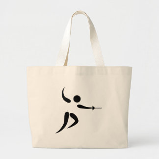 Competitive and Olympic Fencing Pictogram Canvas Bag