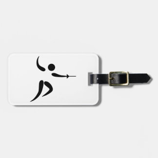 Competitive and Olympic Fencing Pictogram Luggage Tag