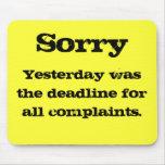 Complaints mousemat