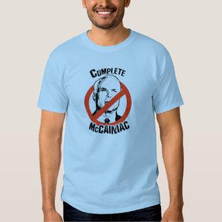 COMPLETE MCCAINIAC TEE SHIRTS