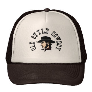 Complete with black hat: Vintage old style Cowboy Cap