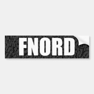 Completely Blank Bumper Sticker (fnord)