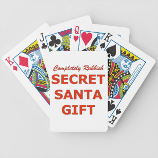 Completely Rubbish Secret Santa Gift Bicycle Playing Cards