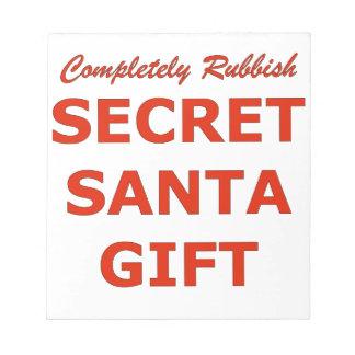 Completely Rubbish Secret Santa Gift Notepad