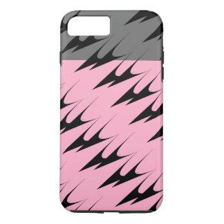 Complex Chevron Pink Grey Gunmetal Pattern iPhone7 iPhone 7 Plus Case