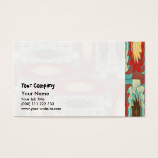 Complex colorful pattern business card