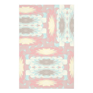 Complex colorful pattern personalised stationery
