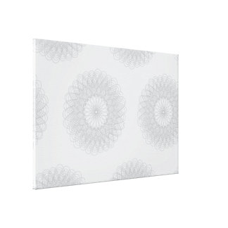 Complex Guilloche Flower pattern light Gallery Wrapped Canvas