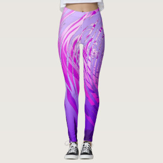 Complex Spiral Purple - Leggings