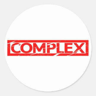 Complex Stamp Classic Round Sticker
