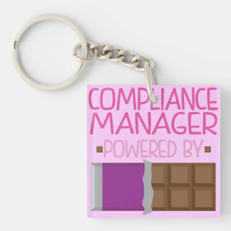 Compliance Manager Chocolate Gift for Her Key Ring