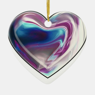 Complicated heart! ceramic heart decoration