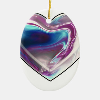 Complicated heart! ceramic oval decoration