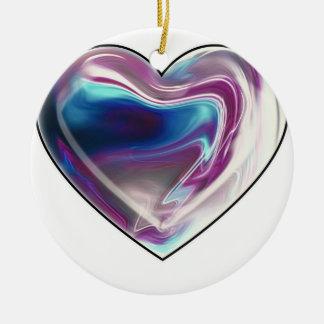 Complicated heart! round ceramic decoration