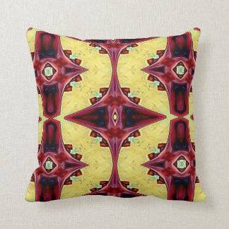 Complimentary Reversible Red Yellow Cool Hip Shape Cushion