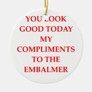 compliments ceramic ornament