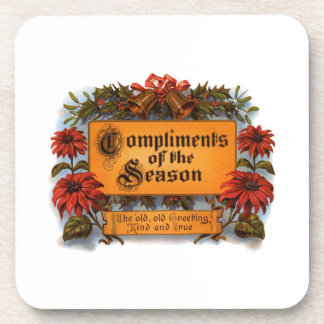 Compliments of the Season Beverage Coasters