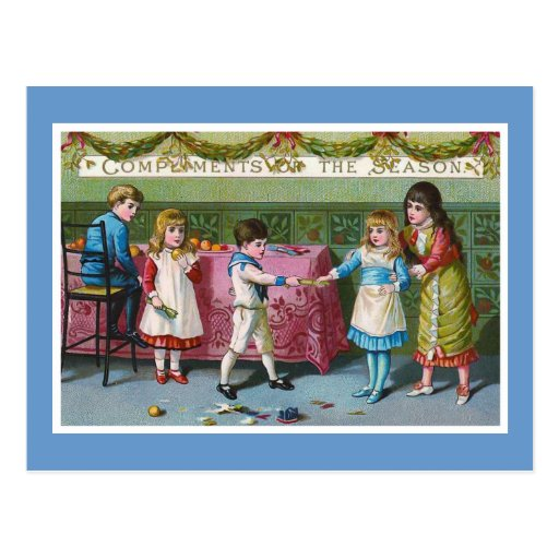 """Compliments of the Season"" Vintage Post Cards"