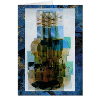 Composed Violin Triple Overlay Card