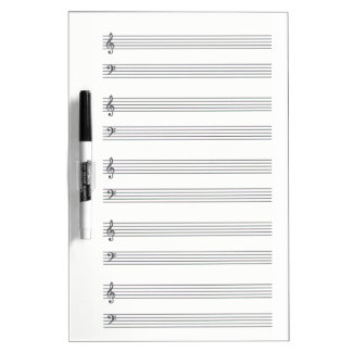 Composing Music Lined Dry Erase Board