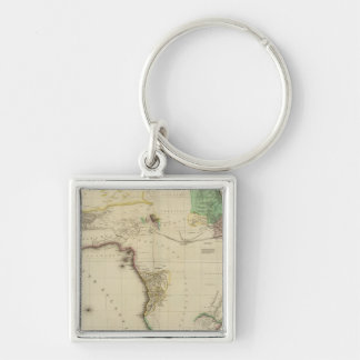 Composite Africa Silver-Colored Square Key Ring
