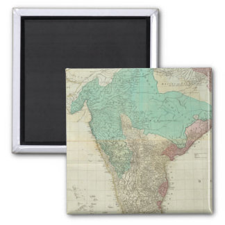 Composite East Indies with roads Square Magnet