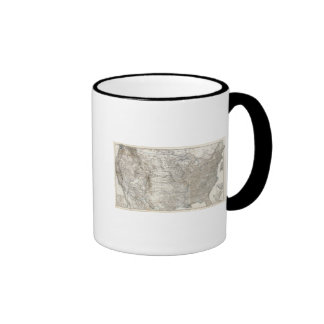 Composite Map of United States of America Mugs