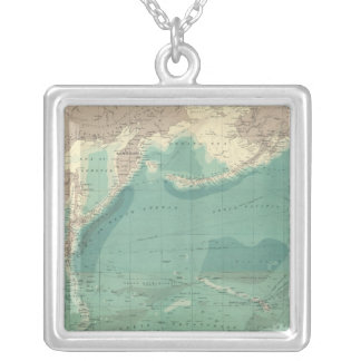 Composite Pacific Ocean Silver Plated Necklace
