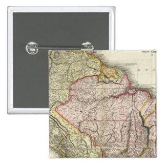 Composite South America, West Indies 15 Cm Square Badge