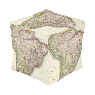 Composite South America, West Indies Cube Pouffe