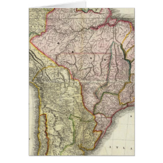 Composite South America, West Indies Greeting Card