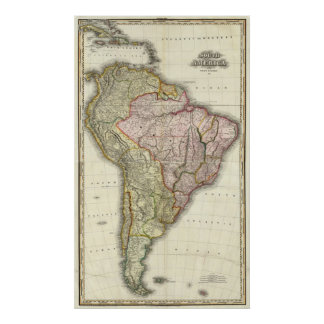 Composite South America, West Indies Poster