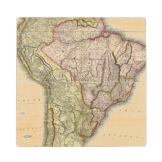 Composite South America, West Indies Wood Coaster