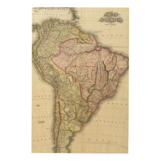 Composite South America, West Indies Wood Canvas
