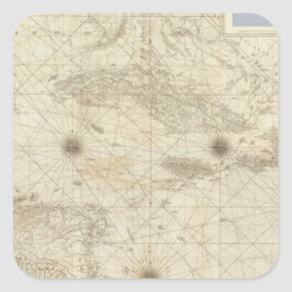 Composite West Indies Square Sticker
