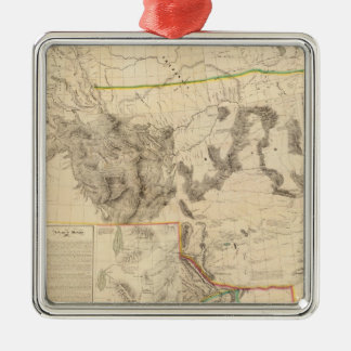 Composite Western United States Christmas Ornament