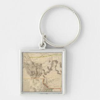 Composite Western United States Keychain