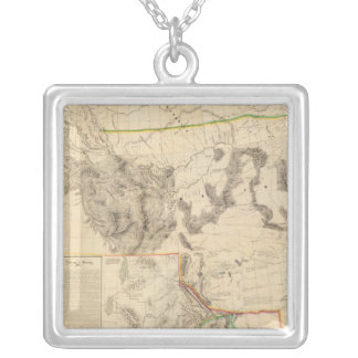Composite Western United States Square Pendant Necklace