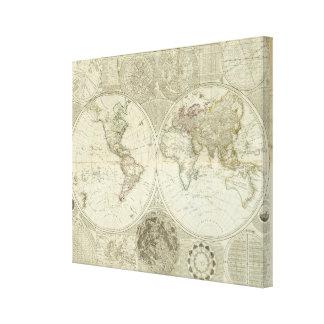 Composite World or terraqueous globe Canvas Prints