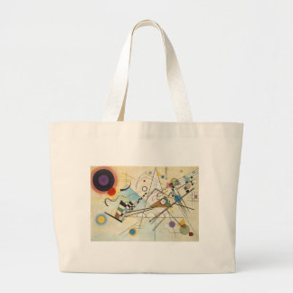 Composition 8 Kandinsky Painting Large Tote Bag