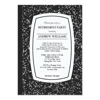 Composition Book Teacher Retirement Party Invites
