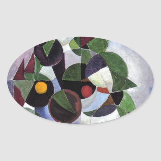 Composition I (Still life) by Theo van Doesburg Oval Sticker