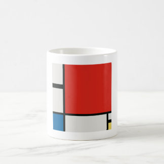 Composition II in Red, Blue, and Yellow - Mondrian Coffee Mug