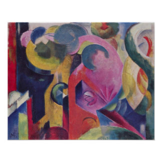 Composition III by Franz Marc Poster